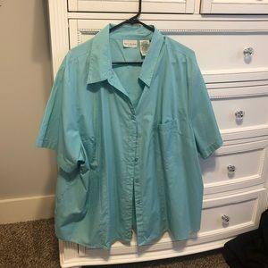 WHITE STAG LIGHT BLUE SHORT SLEEVE BUTTON DOWN